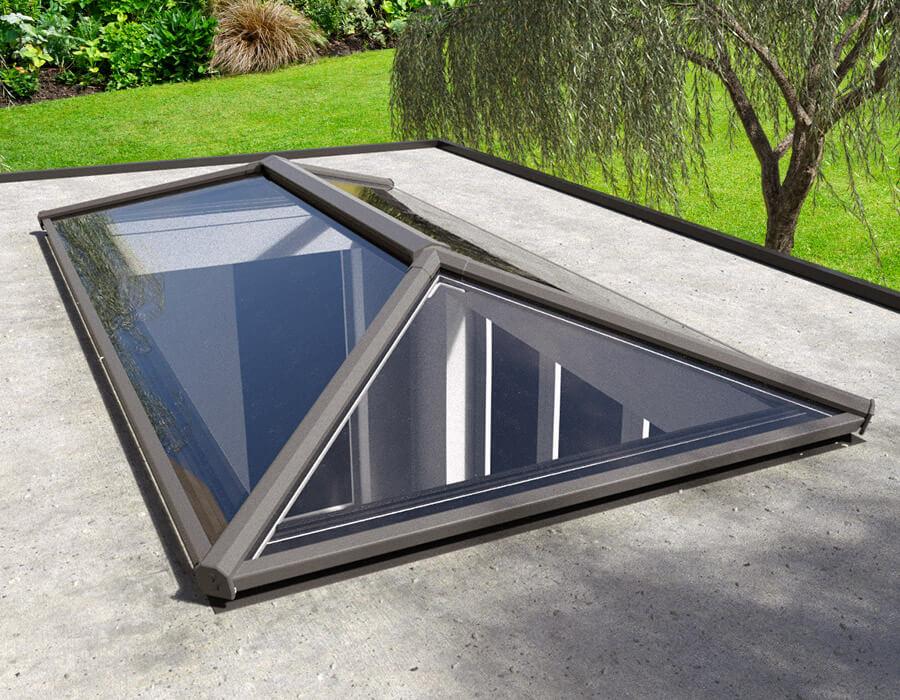 Black uPVC lantern roof