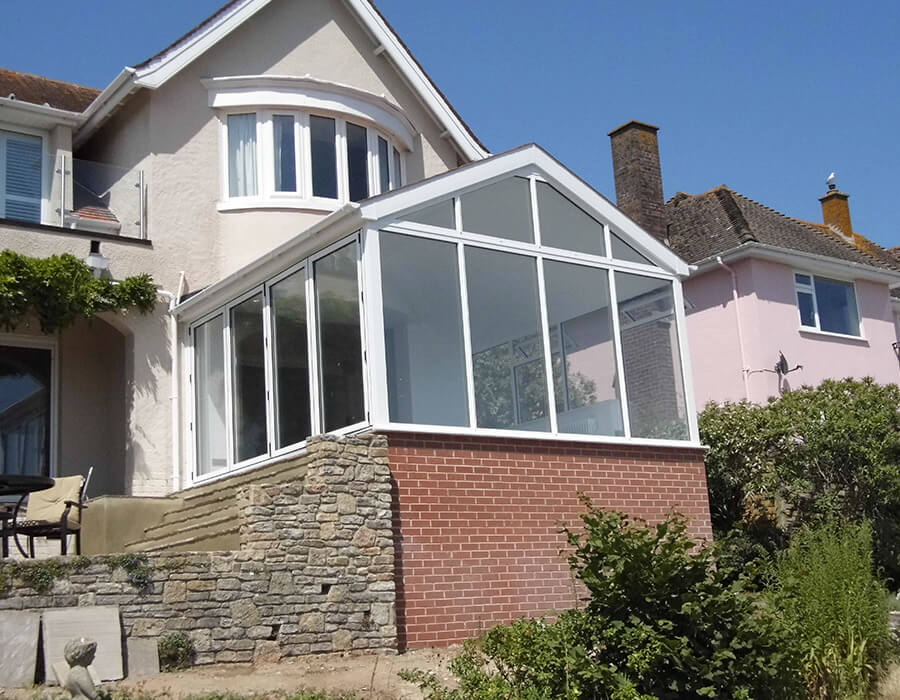 Side view of a uPVC gable conservatory