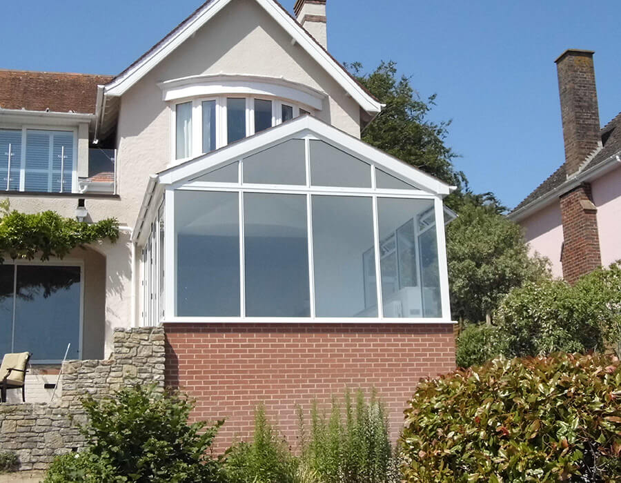 Front view of a uPVC gable conservatory