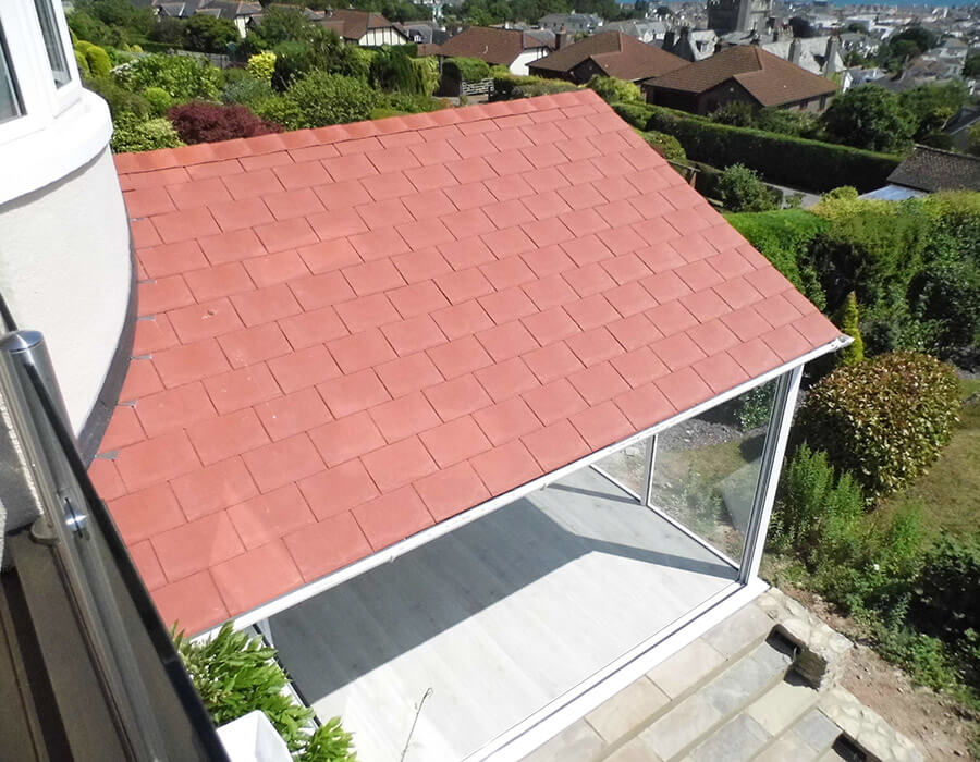 Red tiled roof conservatory