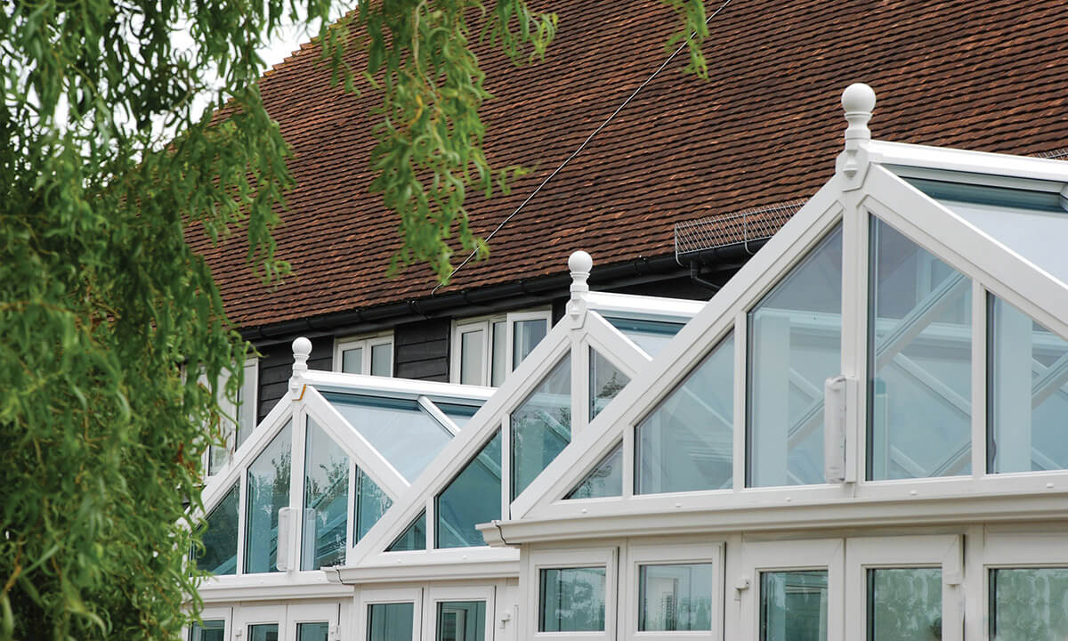 Gable conservatory glass roofs