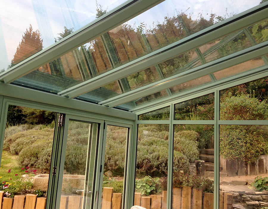 Interior view of a uPVC lean to conservatory