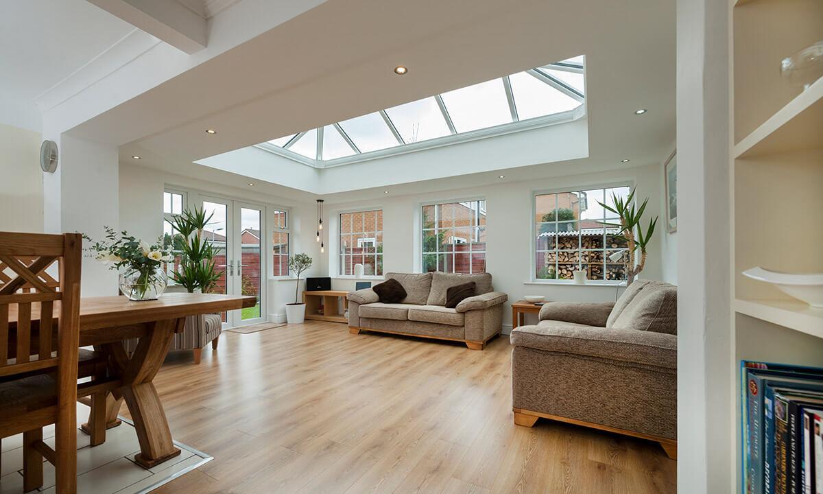 uPVC orangery interior view