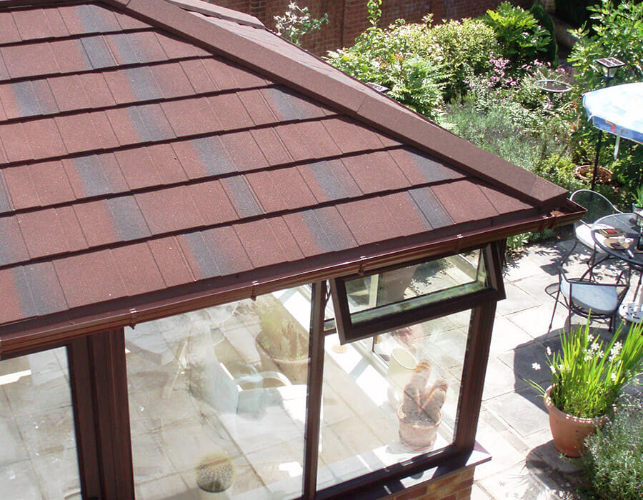 Red tiled roof conservatory roof