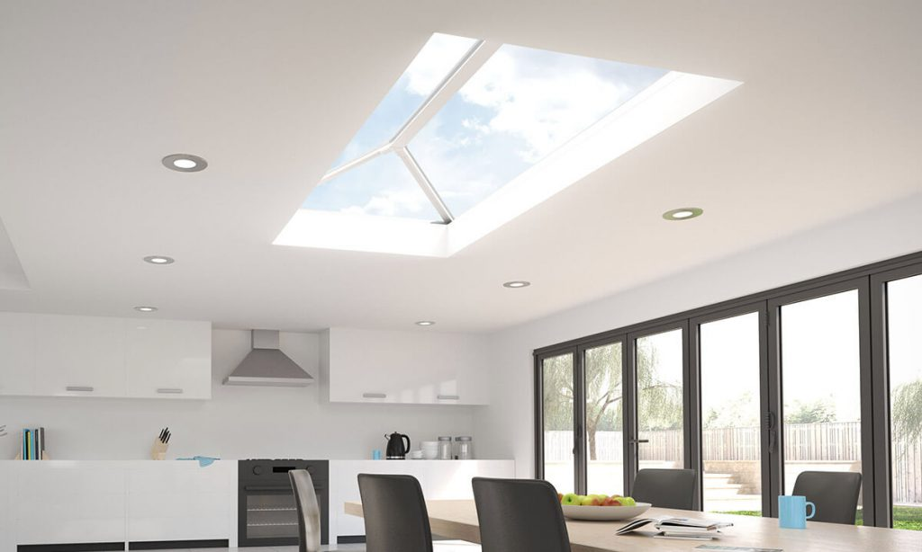 White uPVC lantern roof interior view