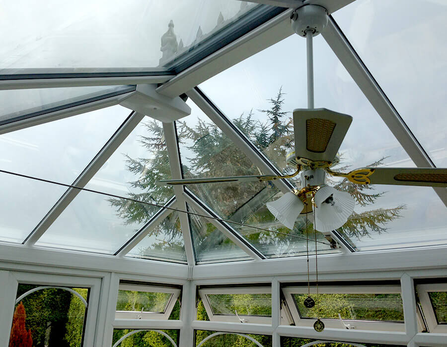 White uPVC conservatory interior view
