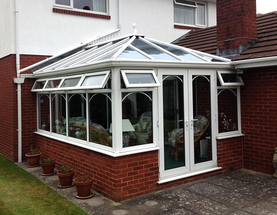 White uPVC edwardian conservatory