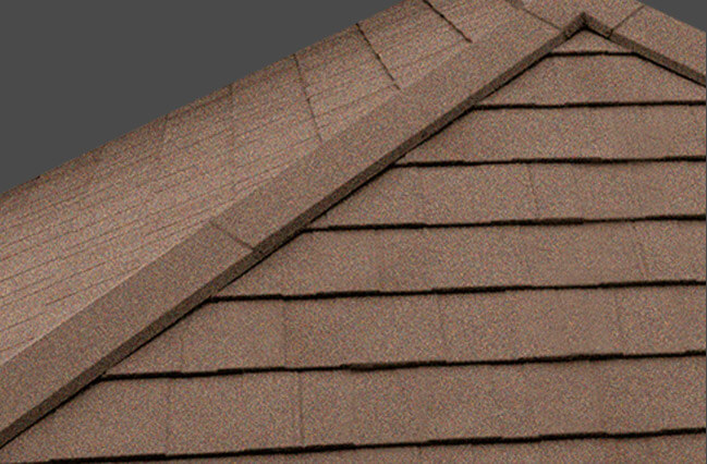 Brown tiled roof