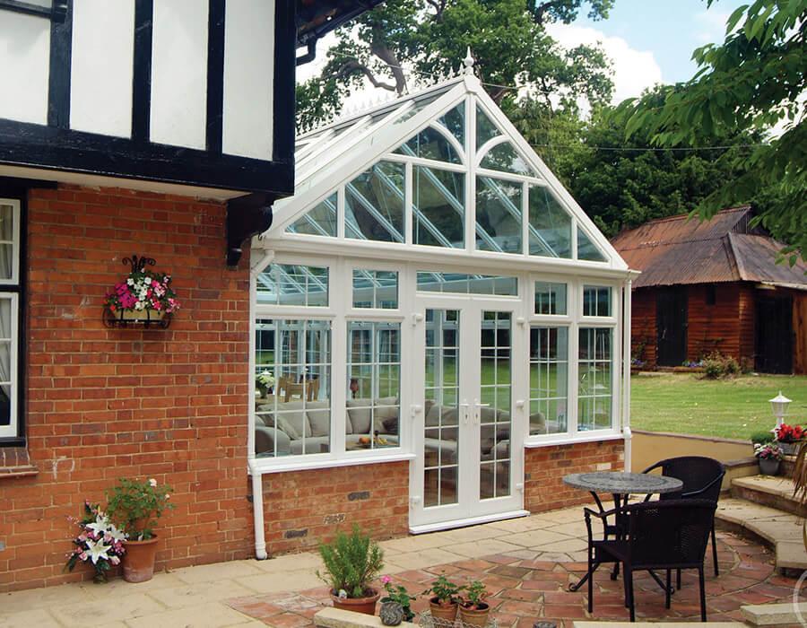 White uPVC gable conservatory