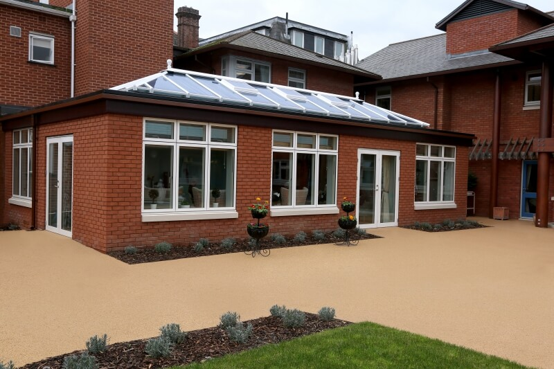 Exterior of an extension with a lantern roof in Exeter