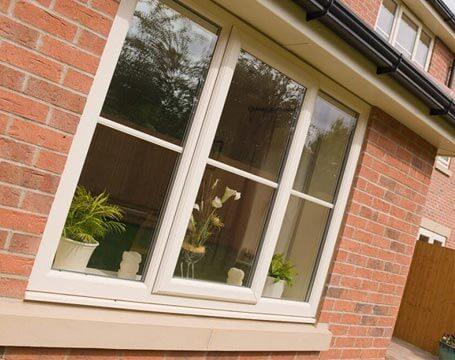 Cream casement window