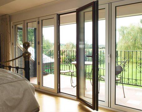 Dual colour aluminium bifold door