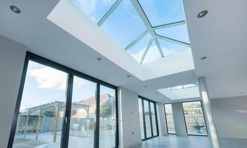 Interior view of a lantern roof