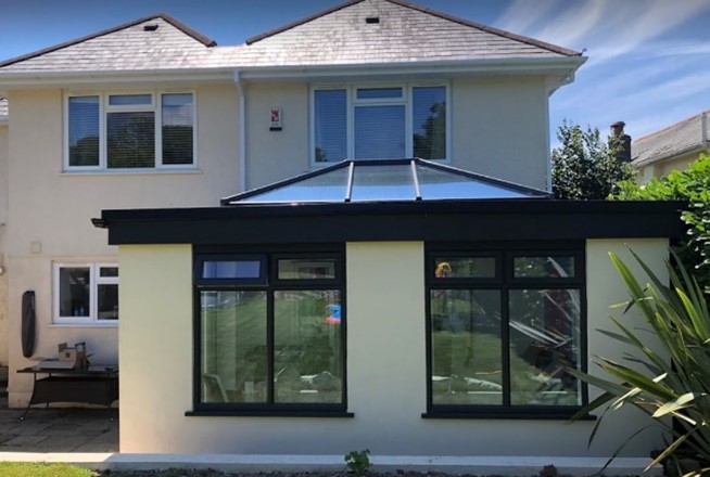 Case study supalite flat roof orangery in Plymouth 2