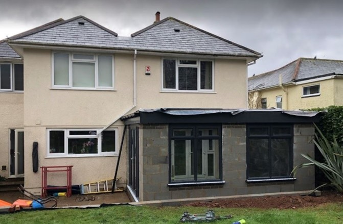 Case study supalite flat roof orangery in Plymouth 3