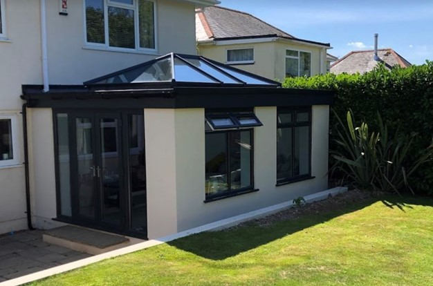 Case study supalite flat roof orangery in Plymouth